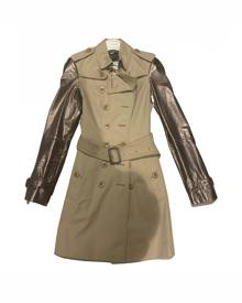 Burberry \N Metallic Leather coat for Women 4 UK