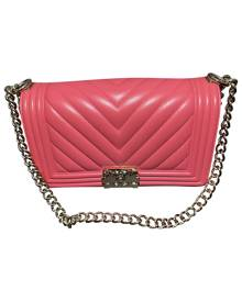 Chanel Boy Pink Leather handbag for Women \N
