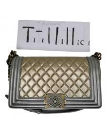 Chanel Boy Gold Leather handbag for Women \N