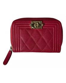 Chanel Boy Pink Leather wallet for Women \N