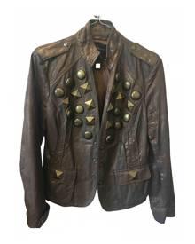 Class Cavalli metallic Leather Jackets