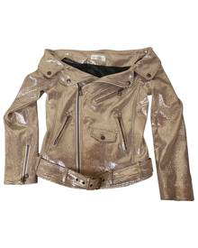 Faith Connexion \N Metallic Leather Leather jacket for Women 40 FR