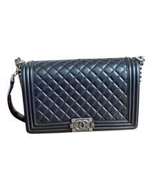 Chanel Boy Black Leather handbag for Women \N