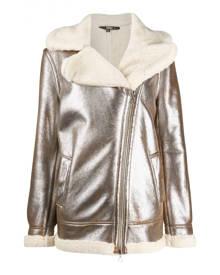 Gianfranco Ferré \N Metallic Leather coat for Women 40 IT