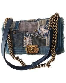 Chanel Boy Blue Cotton handbag for Women \N