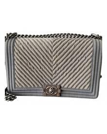 Chanel Boy Beige Cloth handbag for Women \N