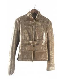 Gucci \N Metallic Leather jacket for Women 40 IT