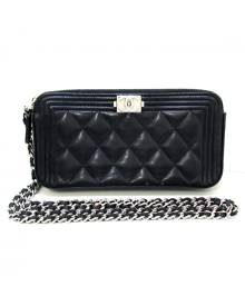 Chanel Boy Black Leather Purses, wallet & cases for Women \N