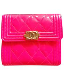 Chanel Boy Pink Patent leather wallet for Women \N