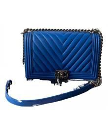 Chanel Boy Blue Leather handbag for Women \N
