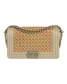 Chanel Boy Beige Leather handbag for Women \N