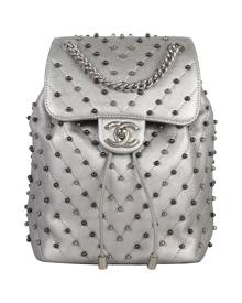 Chanel \N Metallic Leather backpack for Women \N