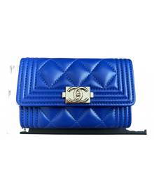 Chanel Boy Blue Leather Purses, wallet & cases for Women \N