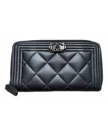 Chanel Boy Black Leather wallet for Women \N