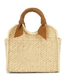 SENSI STUDIO X REVOLVE Midi Handbag in Beige.