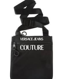 Versace Jeans Couture Messenger Bag for Men On Sale, Black, Nylon, 2019