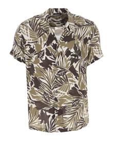Emporio Armani Shirt for Men On Sale, Military Green, viscosa, 2021, S • IT 46 M • IT 48 L • IT 50
