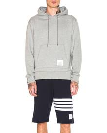 Thom Browne Back Stripe Hoodie in Light Grey - Gray. Size 0 (also in ).