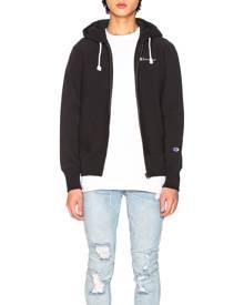 Champion Reverse Weave Hooded Sweatshirt in Black - Black. Size L (also in M,S,XL).