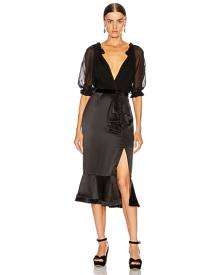 SALONI Holiday Olivia Dress in Black - Black. Size 0 (also in ).