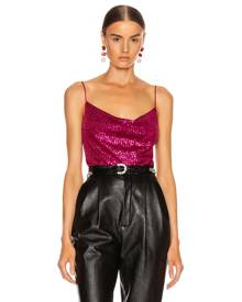 JONATHAN SIMKHAI Sequin Cowl Neck Cami in Magenta - Pink. Size 0 (also in 2,4,6).