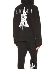 Amiri Dagger Oversized Hoodie in Black - Black. Size XS (also in ).