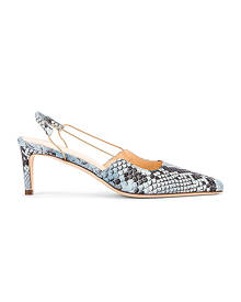 BY FAR Gabriella Snake Print Leather Pump in Light Blue - Animal Print,Blue. Size 39 (also in ).