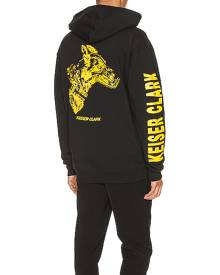 Keiser Clark Animal Control Hoodie in Black & Yellow - Black. Size L (also in M,S,XL).