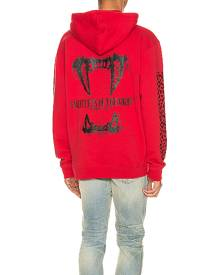 Keiser Clark Creatures Of The Night Hoodie in Red & Black - Animal Print,Red. Size L (also in M,S,XL).