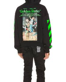 OFF-WHITE Pascal Painting Over Hoodie in Black & Multi - Black. Size S (also in ).