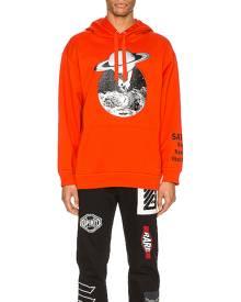 Valentino Print Hoodie in Orange & Saturn - Orange,Red. Size L (also in M,XL).