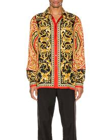 VERSACE Long Sleeve Shirt in Red Print - Red,Abstract. Size 42 (also in ).