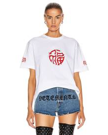 VETEMENTS Good Fortune Tee in White - White. Size XS (also in ).