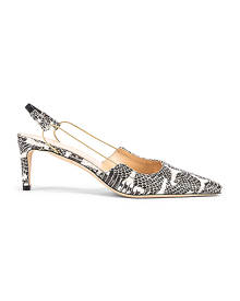 BY FAR Gabriella Snake Print Leather Pump in Graphic - Black,Animal Print. Size 36 (also in 37,38,40,41).