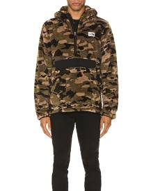 The North Face Campshire Pullover Hoodie in Burnt Olive Green Ponderosa Pine Print & TNF Black - Camo,Green. Size M (also in S).
