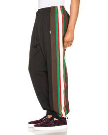 Gucci Track Pants in Black & Green & Red - Black,Stripes. Size L (also in M,S,XL).