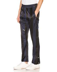 Just Don Paneled Tearaway Pants in Black - Black,Blue,Stripes. Size S (also in M).