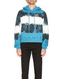 OFF-WHITE Arrows Tie Dye Contour Hoodie in Blue & White - Blue,Ombre & Tie Dye. Size L (also in M,S,XL,XS).