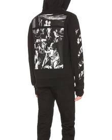 OFF-WHITE Caravaggio Zip Hoodie in Black - Black. Size S (also in XS).