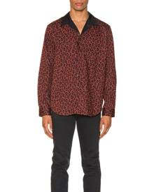 A.P.C. Arid Shirt in Maroon - Animal Print,Red. Size M (also in ).