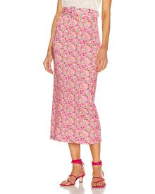 BERNADETTE Monica Skirt in Jellybee Pink - Floral,Pink. Size 34 (also in 36,38,40).