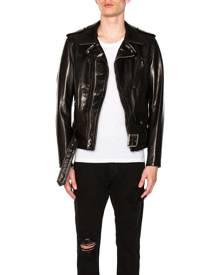 Schott Pebbled Moto Jacket in Black