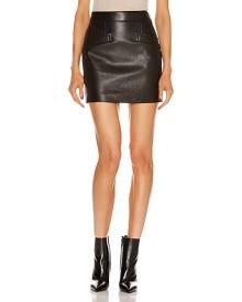 Saint Laurent Leather Skirt in Black