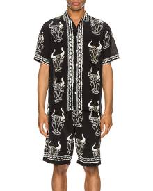 Endless Joy Larnax Aloha Shirt in Animal Print,Black