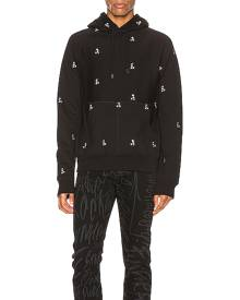 TAKAHIROMIYASHITA The Soloist Mickey Mouse Embroidered Hoodie in Black,Novelty