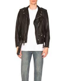 Schott Vintage Fit Moto Jacket in Black