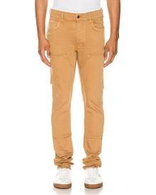 Amiri Workman Skinny Pant in Brown,Neutral