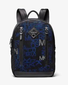 Micheal Kors Mens Brooklyn Logo Mixed-Media Backpack