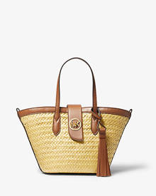 MICHAEL Michael Kors Malibu Small Straw Tote Bag