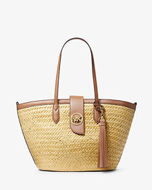 MICHAEL Michael Kors Malibu Large Straw Tote Bag